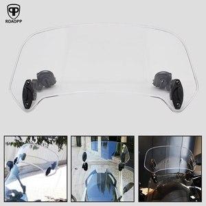 Image 1 - ROAOPP evrensel motosiklet yükseldi ayarlanabilir rüzgar ekran Spoiler hava deflektörü için Honda BMW Yamaha Kawasaki Suzuki