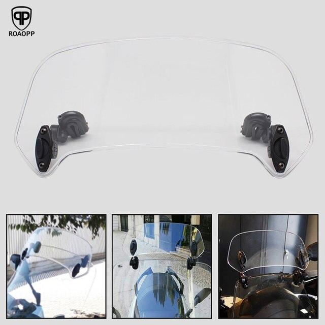 ROAOPP evrensel motosiklet yükseldi ayarlanabilir rüzgar ekran Spoiler hava deflektörü için Honda BMW Yamaha Kawasaki Suzuki