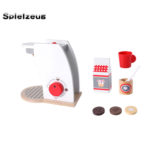 Image 4 - Kids Wooden Pretend Play Sets Simulation Toasters Bread Maker coffee machine Blender Baking Kit Game mixer Kitchen role toy#g4
