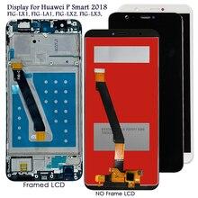 Display para Huawei P Smart 2018 FIG LX1/LA1/LX2, tela LCD touch screen para substituição em Huawei p smart/Enjoy 7S