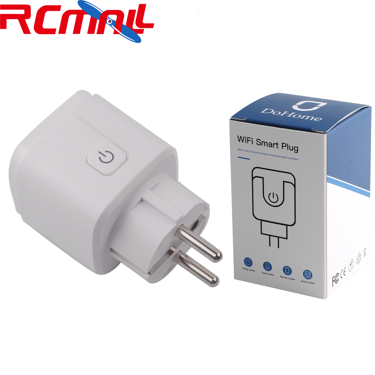 Wifi Smart Plug Compatible With Homekit EU Socket Outlet Switch Phone APP Alexa/Google Assistant Timer DoHome