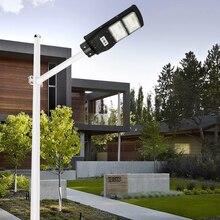 10W 15W güneş sokak lambası açık havada uzaktan kumanda güneş ışıkları Radar PIR hareket sensörlü LED ışık