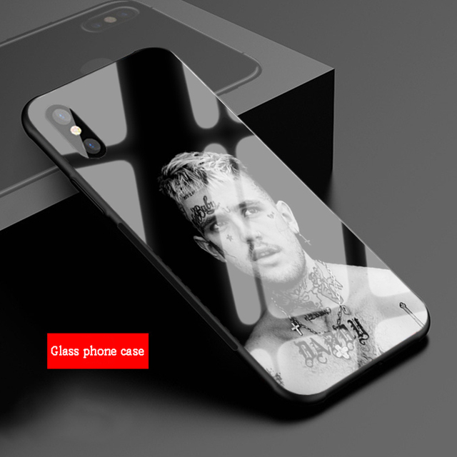 LIL PEEP THEMED TEMPERED GLASS IPHONE CASE (12 VARIAN)