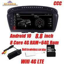 Автомобильный мультимедийный плеер для BMW, проигрыватель на Android 10, 4 Гб ОЗУ, 64 Гб ПЗУ, с GPS Навигатором, для BMW 5 Series, E60, E61, E63, E64, E90, E91, E92, CCC, CIC, iDrive