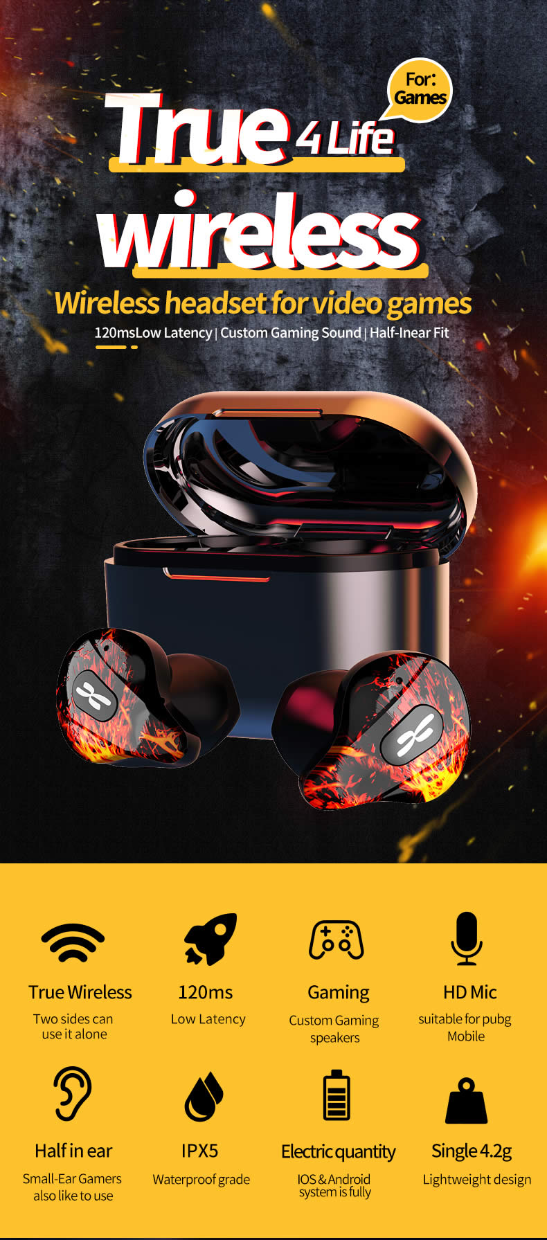 Plextone 4Life True Wireless Gaming Earbuds 4