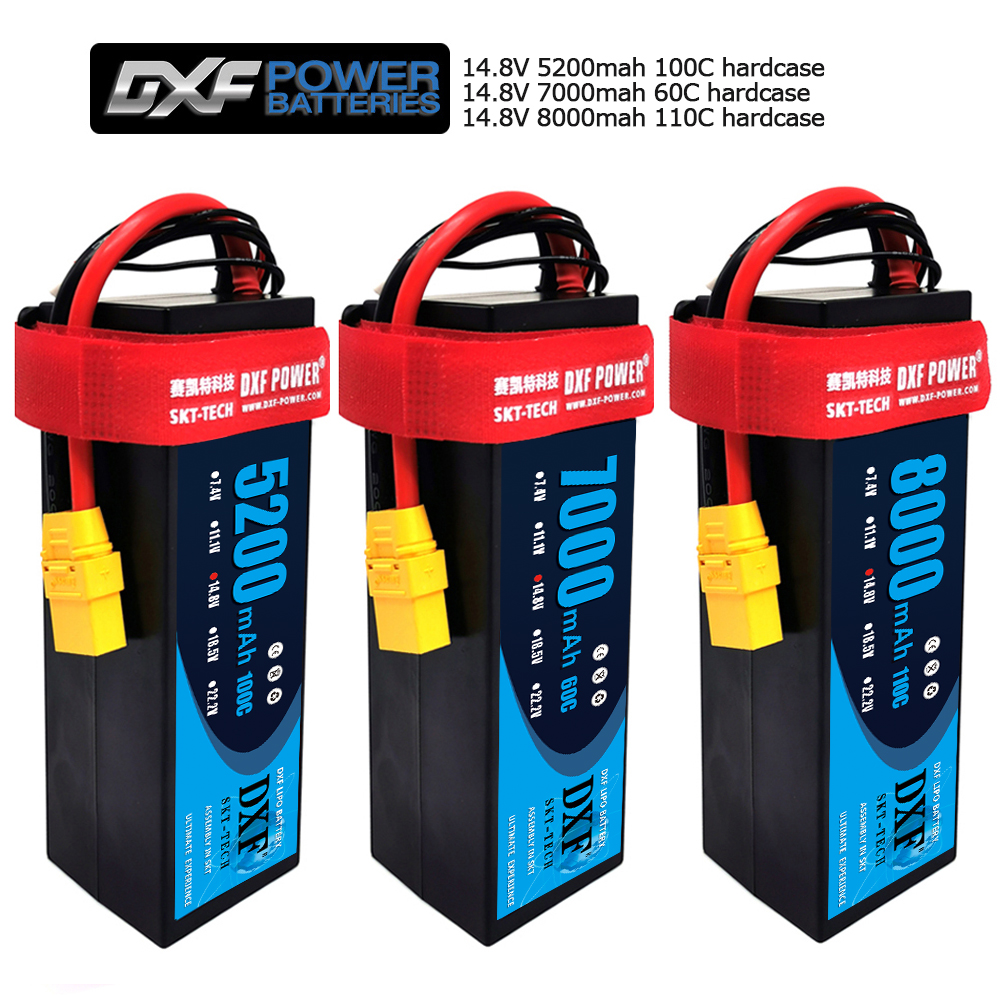 DXF <font><b>Lipo</b></font> <font><b>4S</b></font> Battery HardCase 14.8V 8000mAh 110C/7000mah 60C/<font><b>5200mah</b></font> 100C for 1:8 1:10 RC Car Truggy Truck Boat Quadcopter image