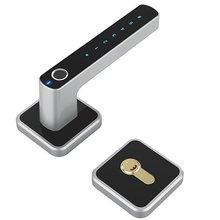 E31 цифровой Интеллектуальный биометрический замок без ключа, умный дверной замок, отпечаток пальца+ Разблокировка паролем, 2 способа