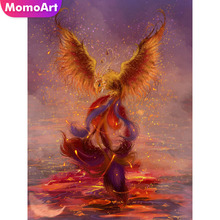 MomoArt Diamond Painting Phoenix Mosaic Animal Embroidery Full Square/round Cross Stitch Home Decor