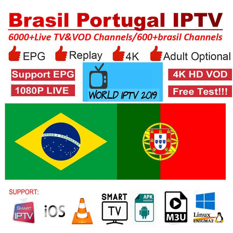 iptv Brasil Subscription 6000+ Channels iptv 4K Chile Latino