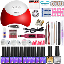Gel Polish Nail Art Manicure Set Tools Kit UV LED Nail Lamp Dryer Colors Gel Nail polish DIY Tools Nail Set Kit Gel Varnish Set gel polish nail art tools kits 36w uv led nail dryer lamps uv gel polish polish gel manicure machine set nail file remover tools