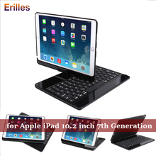 360 Rotation Keyboard Case for iPad 10.2 inch Bluetooth Apple 7th Generation Stand with