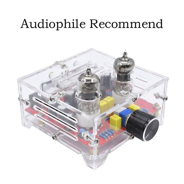 HiFi 6J1 Tube Preamplifier Amplifier Board Class A Pre Amp Crystal Shell