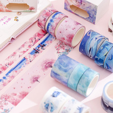 3 Pcs/pack Contain 15mm*5m*2 / 30mm*5m*1 DIY Masking Tape Washi Hand Account Material Album Diary Decoration Sticker