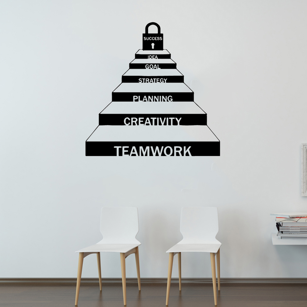 Exquisite Teamwork Cooperation Career Ladder Decor For Office Stickers Removable Home Decoration