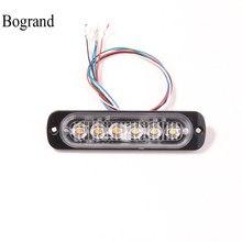 Bogrand 6 Вт светодиодный сигнальный стробоскоп водонепроницаемый Ip65 Автомобильный аварийный мигающий свет 12 В Стробоскопическая Лампа синхр...