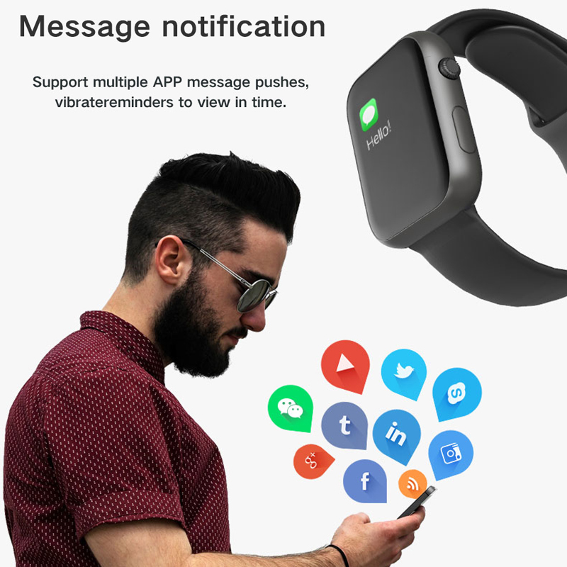 LEMFO Bluetooth smartwatch 44MM Replace Strap Heart Rate Blood Pressure smart watches men women for apple iphone huawei xiaomi