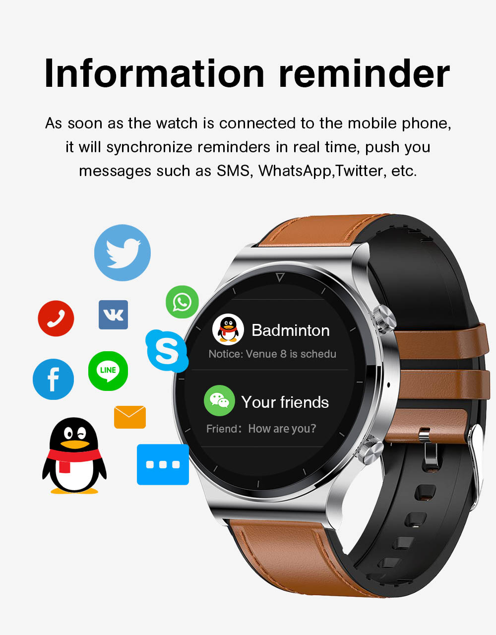 Hbf0978bfe4e44f3282b3e30194ed2868r NUOBO 2021 New Smart Watch Men Bluetooth Call Heart Rate Blood Pressure Sports IP68 Waterproof Smartwatch for Android IOS Phone