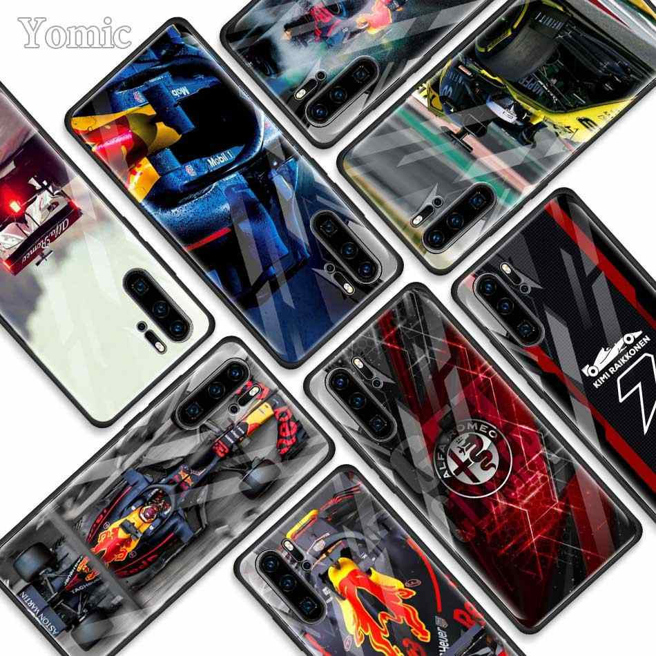 for Formula 1 Tempered Glass Cases for Huawei P30 Pro P10 P20 Lite Mate 20 Lite Honor 20 Pro 8X Phone Cover