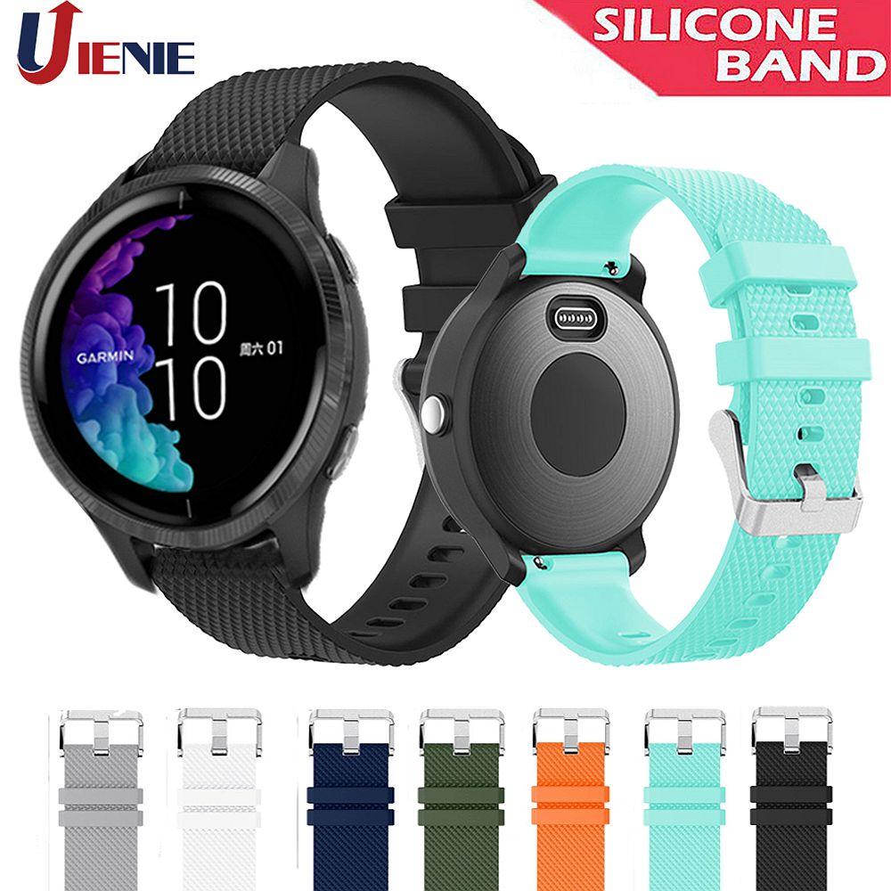 20mm Silicone Watchband Strap For Garmin Venu/GarminMove 3 Luxe Style/Vivoactive 3 Smart Watch Band Sport Replacement Correa