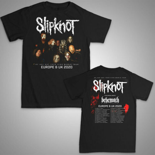 Slipknot - Unisex T Shirt - Europe UK Tour 2020 We Are Not Your Kind Band Music