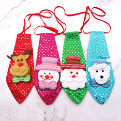 1pcs Christmas Tie Sequins Santa Claus Snowman Reindeer Bear Christmas Decorations For Home Xmas Decoration Kids Toy Ornaments