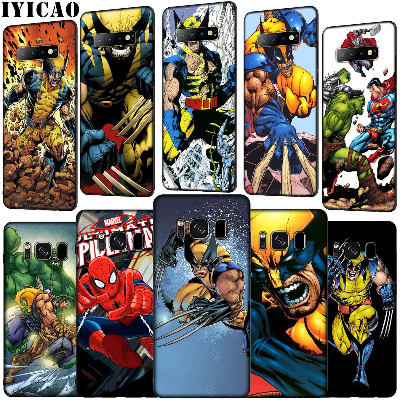 IYICAO Thor Odinson Marvel Comics Wolverine Soft Silicone Phone Case for Samsung Galaxy S10 E S9 S8 Plus S6 S7 Edge S10e Cover image