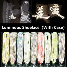 1 Pair 120cm Round Reflective Runner Shoes Laces Safety Luminous Glowing Shoelaces Unisex Sport Basketball Canvas With Case(China)