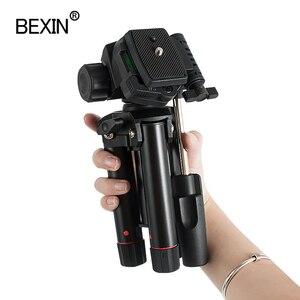 Image 5 - Masaüstü çekim mini tripod kamera akıllı telefonlar standı montaj tutucu üç boyutlu kafa tripod dslr kamera için seyahat
