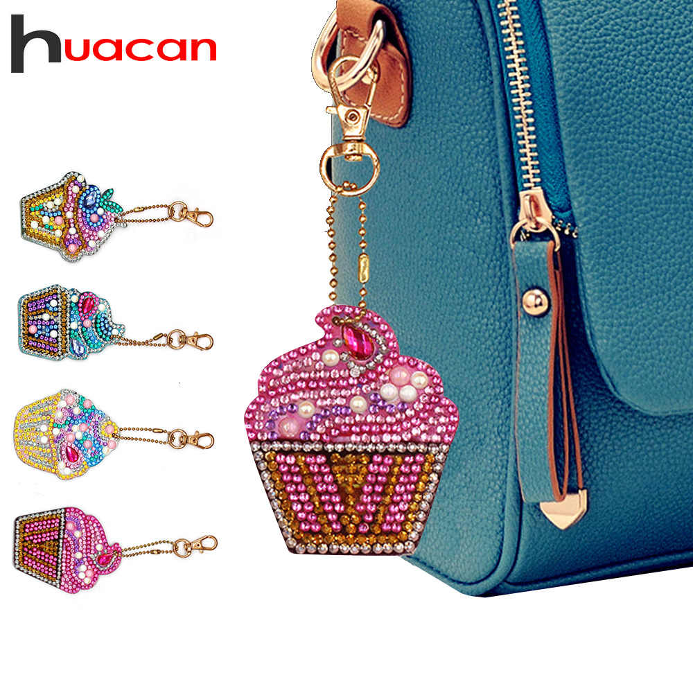 Huacan Special Shaped Diamond Painting Keychain Cartoon 5d Diy Diamond Mosaic Accessories Keyring Bag Gift