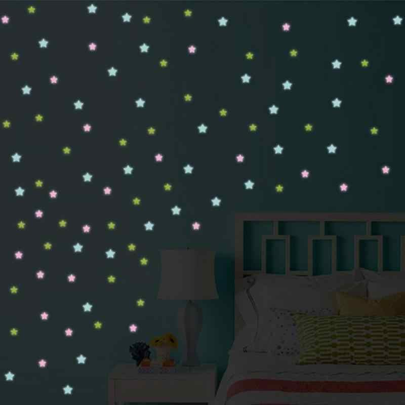 3D Sterne Glow In The Dark Fluoreszierend Leuchtenden auf Wand Aufkleber für Kinder Zimmer Wohnzimmer Wand Dekor Hause Dekoration glow Stick