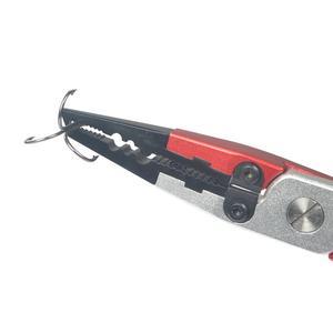 Image 5 - Nieuwe Ontwerp Aluminium Vissen Tang 84G 17.7 Cm Lijn Cutter Houder Multifunctionele Vissen Tools Met Schede
