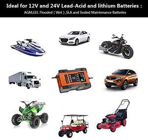 Image 5 - Foxsur – chargeur Intelligent de batterie au Lithium 12V/24V 6amp, pour voiture et moto, automatique, 7 étages, plomb acide
