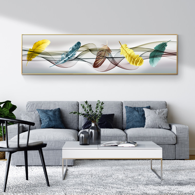 Colorful Feathers Painting