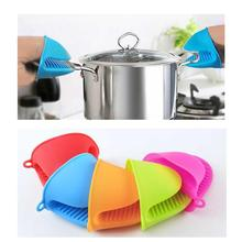 Кухонные мини-перчатки для духовки Силиконовые термостойкие кухонные прихватки рукавицы Potholder дерзкая противоскользящая подставка для выпечки держатель посуды