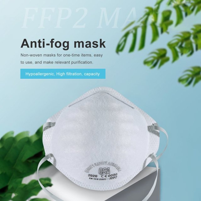 FFP2 Face Protective Mask Proof Mouth Fog Cotton Anti Dust Activated Carbon Filter Windproof PM2.5 Black 3-layer Bacteria Flu
