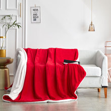 hot sell quilt cover bedclothes bedding set double layer blanket simple fashion crystal thicken velvet quilt cover home supplies Double-layer thickened small blanket sofa cover blanket lamb velvet coral velvet office siesta air conditioning blanket quilt