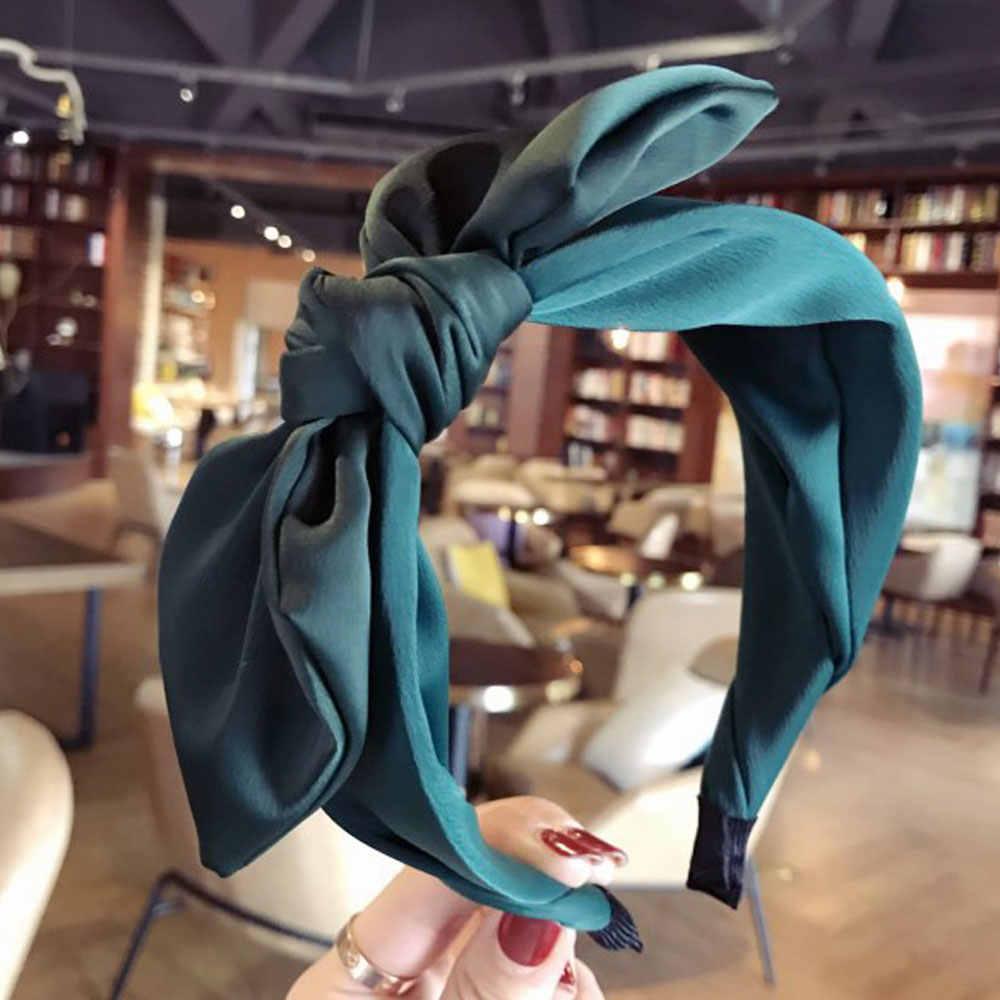 Fashion Women/'s Cute Headband Band Crystal Knot Plain Hair Rabbit Headwear CN