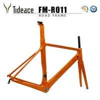 Cadre de vélo en fibre de carbone Tideace Di2 et cadre de route en carbone de vélo de course mécanique + fourche + tige de selle + casque pour vélo de route en carbone