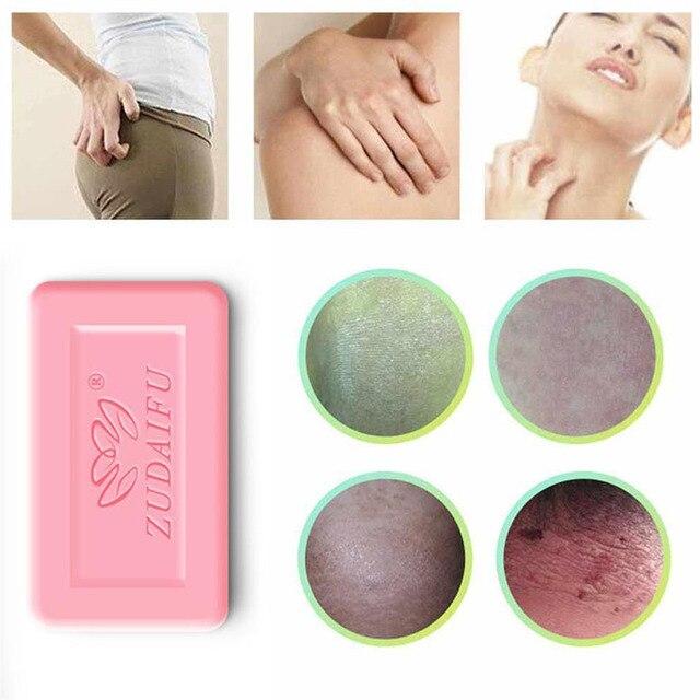 zudaifu 7g Sulfur Soap Skin Conditions Acne Psoriasis Seborrhea Eczema Anti Fungus Bath Whitening Soap Shampoo dropship TSLM1 2