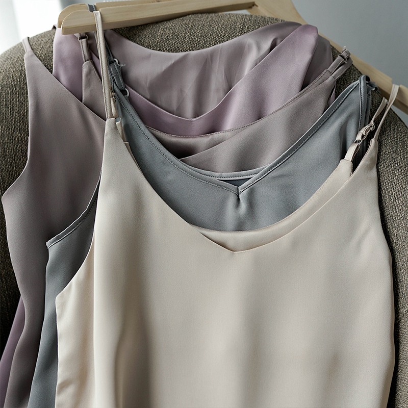 Toppies 2020 Spring Summer Women Satin Dress party Luxury Shiny Sundress Imitation Silk Dress 6