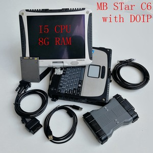 MB STar C6 Interface Multiplexer for Auto diagnosis and Programming with DOIP Protocol and V06.2020 X-entry in used CF19 I5 8G
