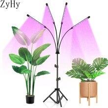 Luz de crescimento da planta do diodo emissor de luz espectro completo planta de luz para o interior mudas flores vegetais suporte 5v usb phyto lâmpada