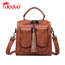 Casual Backpack Female Brand Leather Womens Large Capacity School Bag for Girls Double Zipper Leisure Shoulder Bags