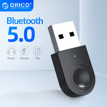 ORICO-Adaptador USB con Bluetooth 5,0, receptor y transmisor de Audio y música, compatible con Windows 7/8/10, para PC, portátil y altavoz