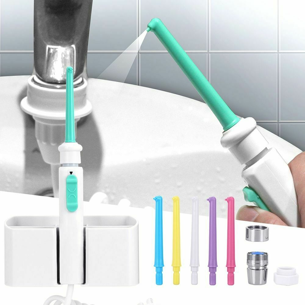 Faucet Oral Irrigator 6Nozzle Water Dental Flosser Portable Irrigador Dental Water Jet Toothbrush Oral Irrigation Teeth Cleaning