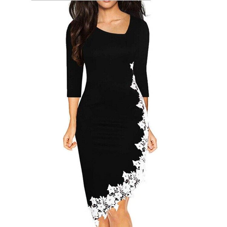 2020 размера плюс женское облегающее платье OL офисное платье летняя одежда с длинным рукавом и квадратным вырезом Сексуальные Короткие Кокте...