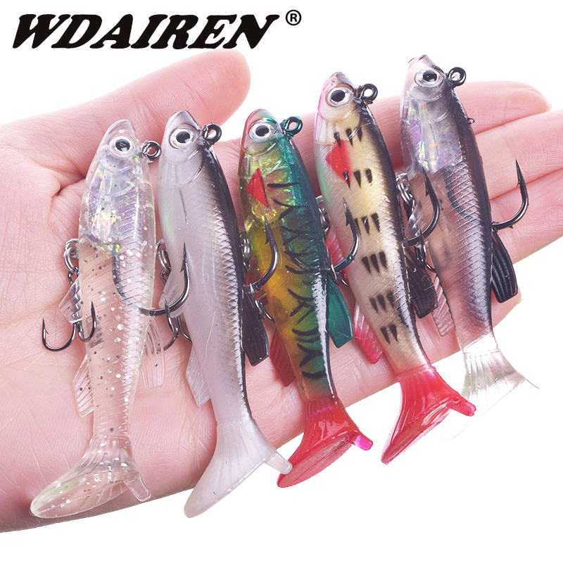 WDAIREN Soft Lure Fishing Wobbler Swimbait 7.5cm 12g Silicone Artificial Bait Carp Fishing Lead Jig Fish Pesca Isca Tackle 1Pcs