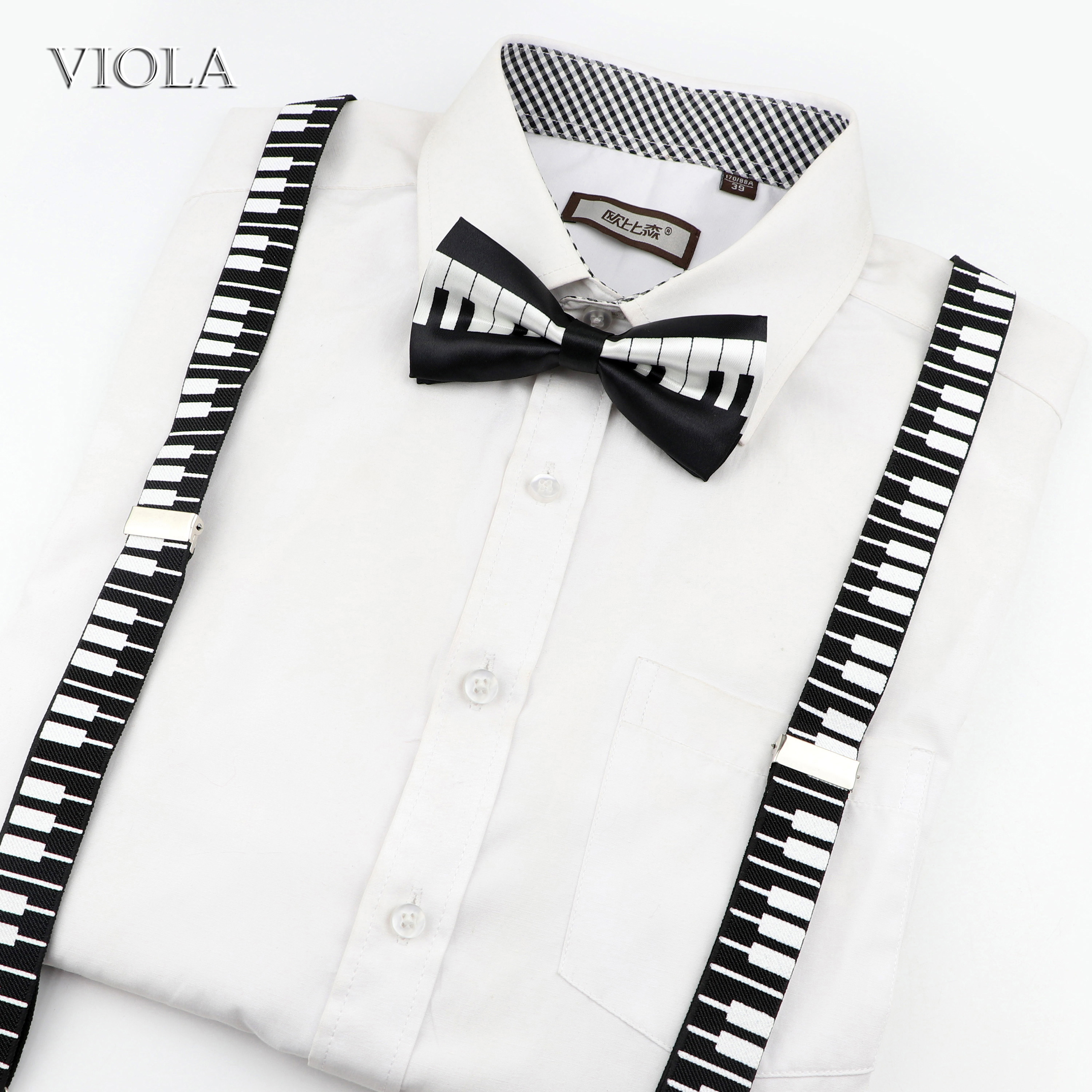 New Adjustable Neck Mens Bow Tie Musical Note Design Party Fashion