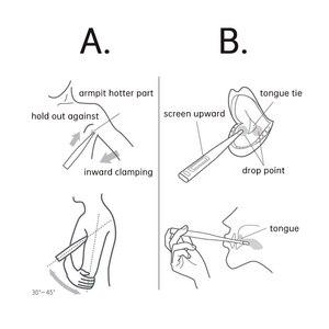 Image 5 - Originele Xiaomi Mi Digitale Thermomether Medische Ondersteuning Mi Thuis App Quick Nauwkeurige Modus Weten Sneller Nauwkeurige Orale Oksel Maatregel