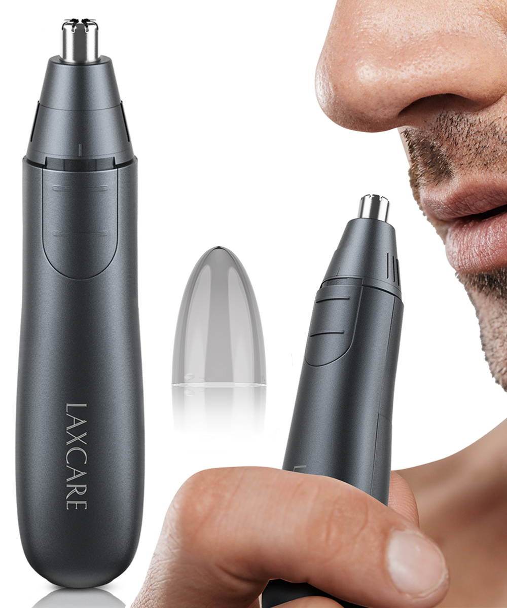 Laxcare Electric Nose And Ear Eyebrows Trimmer With Built-in LED Light For Men Women Shaving Hair Removal Razor Cleaning Machine